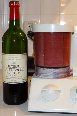Pour The Wine Into An Ordinary Kitchen Blender And Blend On The  Highest Power Setting For 30 Seconds Or So.