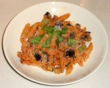 Pasta alla Norma (pasta with eggplant, tomatoes and ricottasalata)