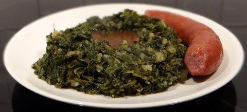 Kale with Mashed Potatoes and Smoked Pork Sausage (Boerenkool met ...