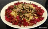 Pasta with Smoked Duck, Beetroot, and Orange