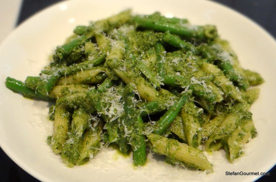 Green Beans With Almond Pesto Under An Egg Recipes — Dishmaps