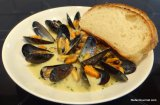Mussels with Blue Cheese (Moules au Roquefort)
