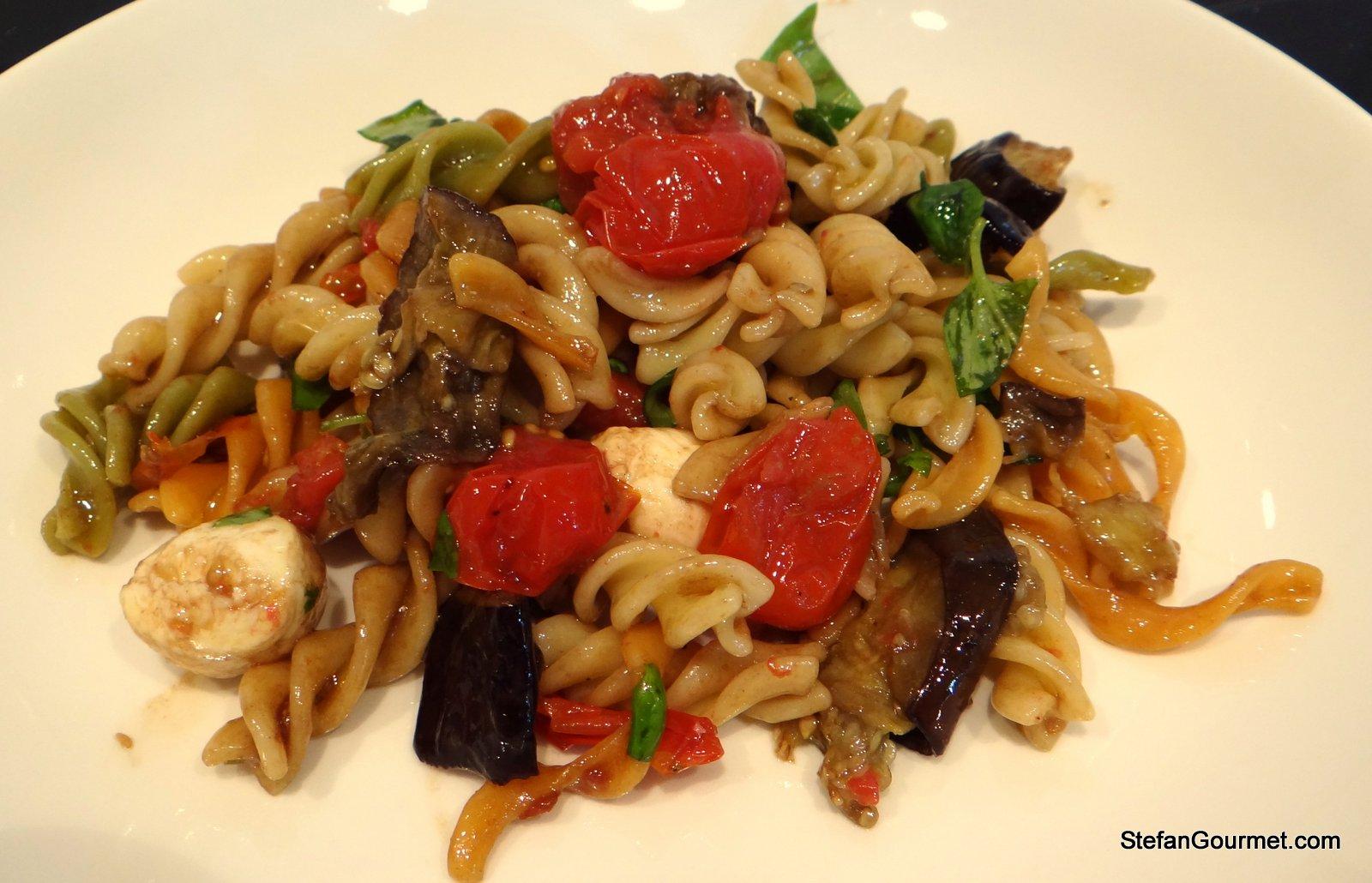 Eggplant Caprese Pasta Salad – Stefan's Gourmet Blog