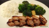Sous-Vide Pork Belly Asian Style with Garlicky Broccoli