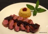 Duck Breast Sous-Vide with Duck Red Wine Demi-Glace