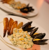 Irish Mussels with Irish Blue Cheese and Irish Parsnips