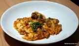 Celeriac Ravioli with Eel TomatoSauce