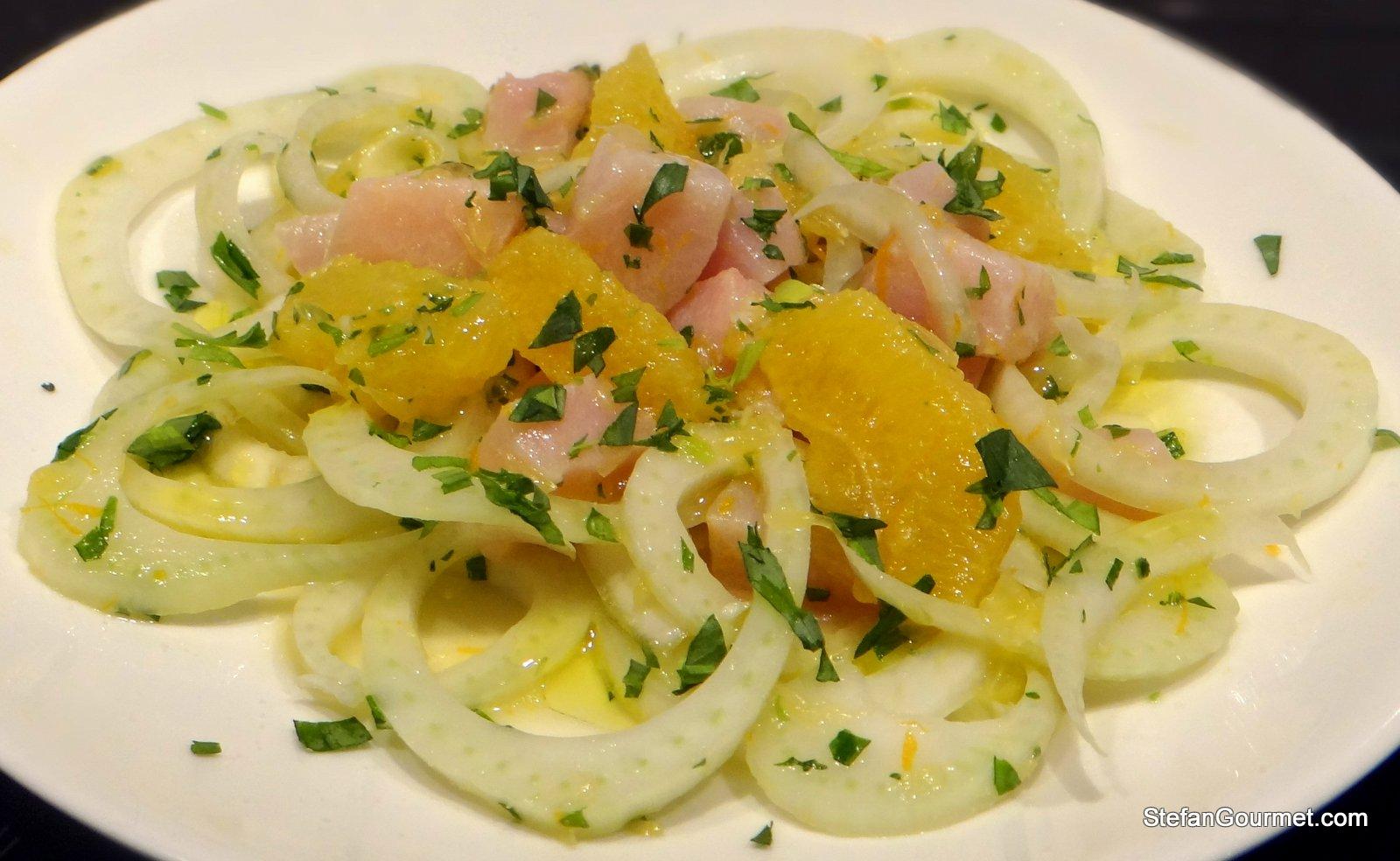 Swordish, Fennel and Orange Salad | Stefan's Gourmet Blog