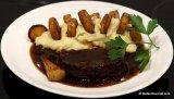 Braised Flat Iron Steak with Parsnip Fondant(Draadjesvlees)