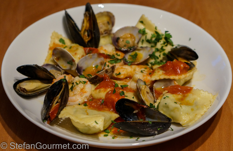 Fish Ravioli with Seafood (Ravioli di Pesce ai Frutti di Mare) – Stefan's Gourmet Blog
