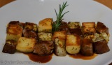 Lamb-Eggplant-Potato Mosaic