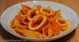 Pasta with Squid (Conchiglie alla Pappagano)