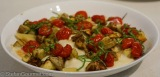 Penne with Scamorza, Eggplant and CherryTomatoes