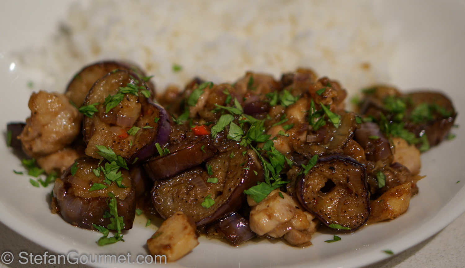 Eggplant with chicken: recipes, cooking secrets 29