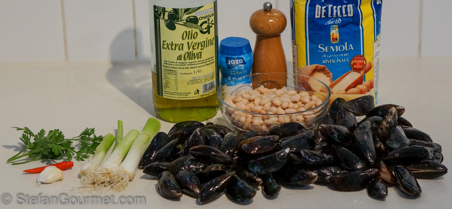Fresh Pasta Dumplings with Mussels and Beans (Cicatielli con Cozze e ...