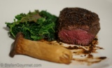 Porcini-crusted Venison Steak