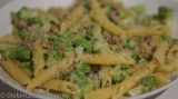 Pasta with Romanesco and Sausage (Pasta con broccolo romano e salsiccia)