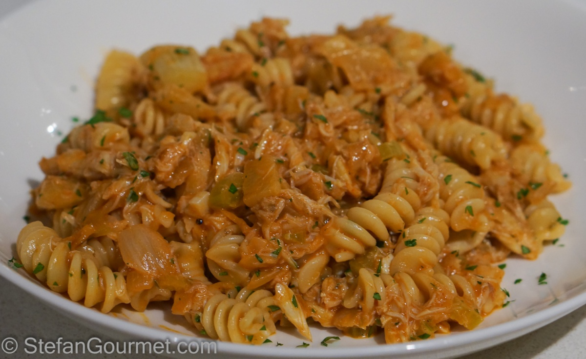 Fusilli with Crab and Fennel | Stefan's Gourmet Blog