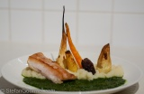 Crocodile Sous-Vide with a Root Vegetable 'Swamp'