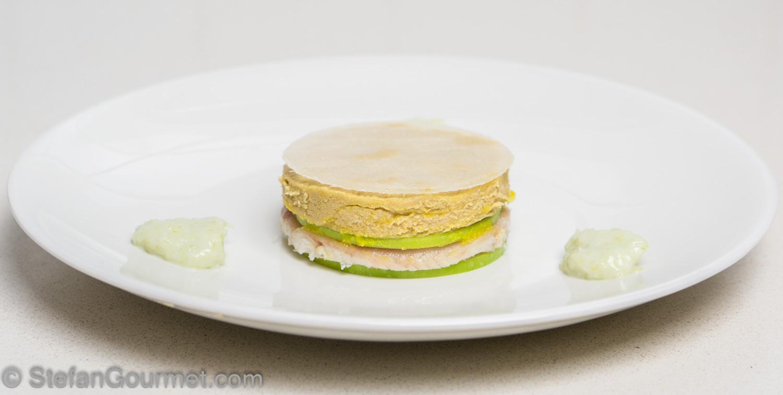 Layered Foie Gras Smoked Eel And Green Apple Stefan S Gourmet Blog