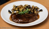 Lamb Scaloppine with Balsamic and Roasted Eggplant