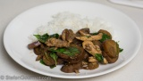 Thai Chicken and Eggplant Stir-Fried with Red Curry (Pad Phed Gai)