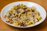 Pasta with Roasted Cauliflower, Ham, and Cumin