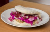 Salmon 'Shawarma' with Beetroot Tzatziki on Pita or Naan Bread