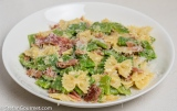 Farfalle Pasta with Runner Beans and Prosciutto, 'Carbonara'-Style