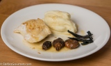 Turbot with Morels, Wild Mushrooms, and Celeriac Puree