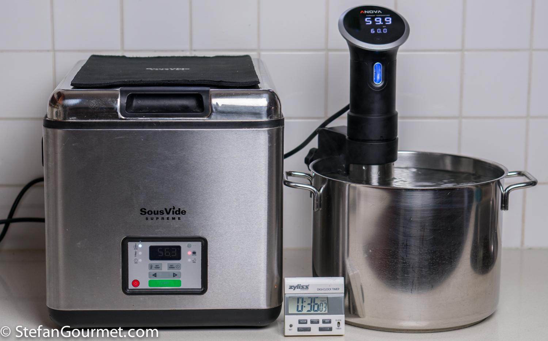 Sous-Vide Equipment Review: SousVide Supreme vs. Anova Precision Cooker – Stefan's Gourmet Blog