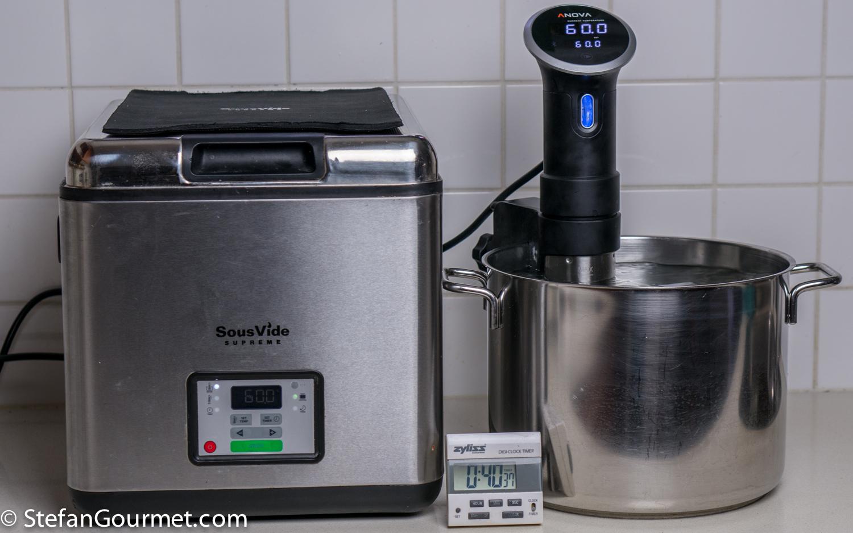 Sous vide equipment review sousvide supreme vs anova for Cuisine sous vide