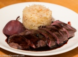 Goose Breast Sous-Vide with Sauerkraut and Pear