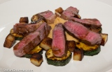 Strip Steak with Parsnip, Zucchini and Potatoes