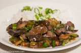 Blade Steak Sous-Vide with Shii Take Mushrooms and Oyster Sauce