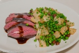 Venison with Turnips and Peas