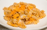Wholewheat Fusilli with Pumpkin and Gorgonzola (Fusilli Integrali alla Zucca e Gorgonzola)