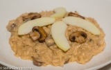 Risotto with Apple, Mushrooms, and Goat Cheese