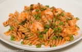Fusilli with Shrimp, Peas, and Tomato