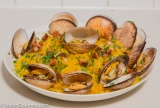 Spaghetti Squash with Clams and Pancetta