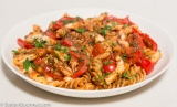 Pasta with Calamari and Bell Peppers
