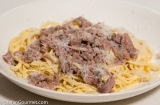 Fresh Tagliolini with Sous-Vide LambShank