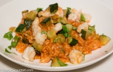 Risotto with Shrimp, Zucchini, and Tomato