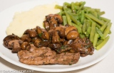 Veal Escalope with Mushrooms and Marsala (Scaloppine ai Funghi e Marsala)