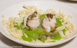 Sole with Mint, Peas, and Fennel