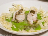 Sole with Mint, Peas, andFennel