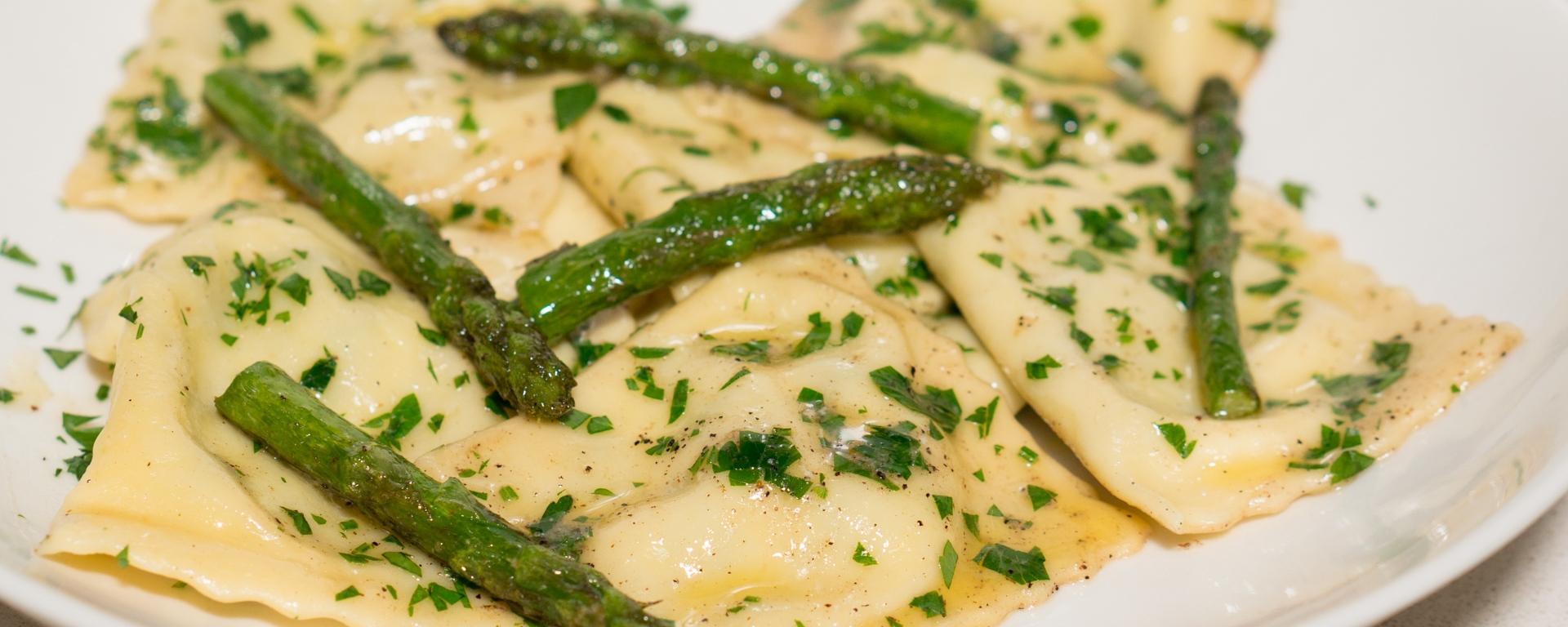 Asparagus and Goat Cheese Ravioli (Ravioli agli Asparagi e