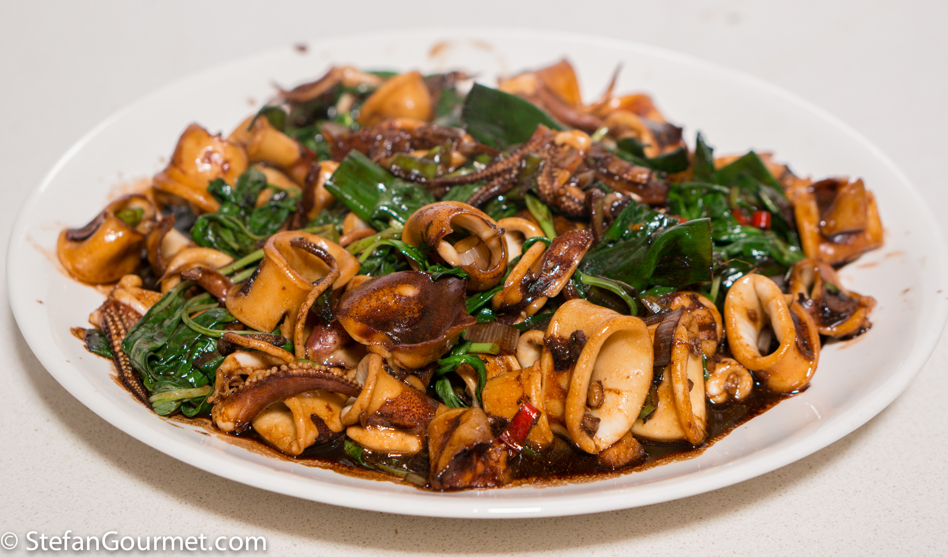 Taiwanese Squid with Thai Basil and Ginger – Stefan's ...